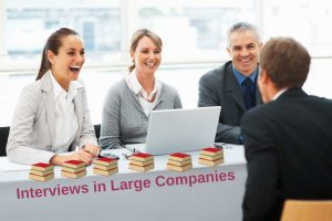 Interviews from the basic selection method for most large companies