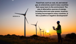 Fossil fuel, such as coal, oil, and natural gas energy - Writing Task 2