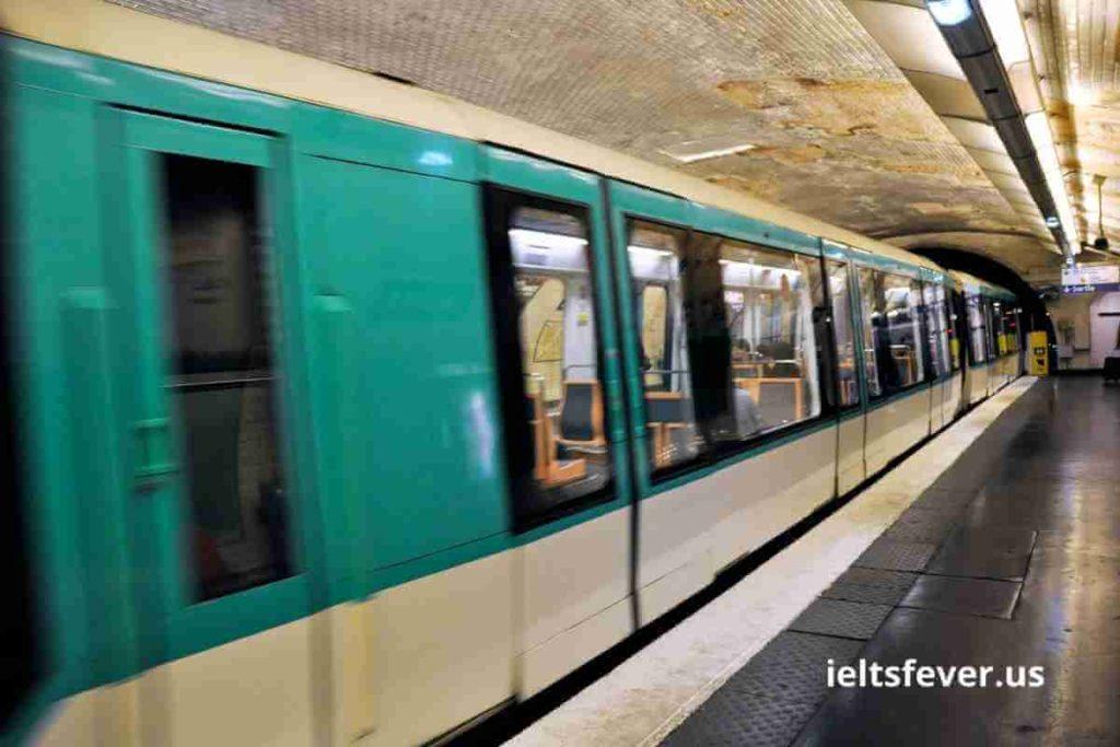 The Line Graph Shows Paris Metro Station Passengers (1)